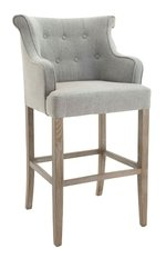 R V Astley Gala Grey Linen Mix High Stool
