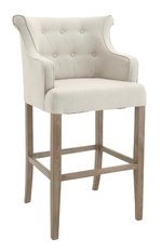 R V Astley Gala Natural Linen High Stool