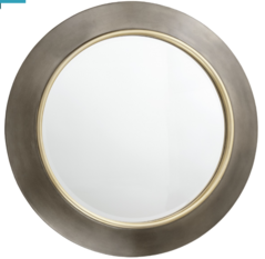 R V Astley Guido Brushed Gunmetal Mirror