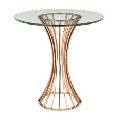 R V Astley Lanza Shiny Rose Side Table