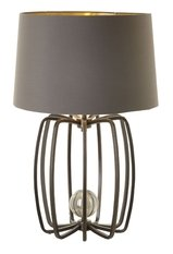 R V Astley Large Brass Cage Lamp