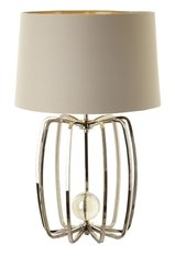 R V Astley Large Nickel Cage Lamp