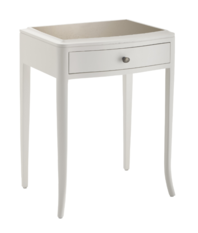 R V Astley Maxton 1 Drawer Off White Bedside