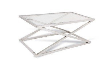 R V Astley Nico Coffee Table in stainless steel