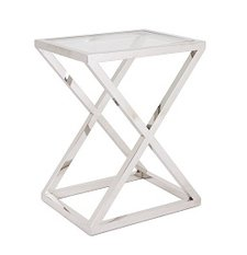 R V Astley Nico Stainless Steel Side Table