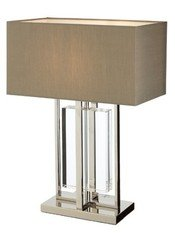 R V Astley Sarre Nickel and Crystal Table Lamp