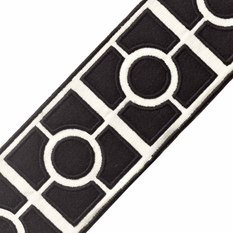 Samuel & Sons Palladio Embroiderd Onyx Border