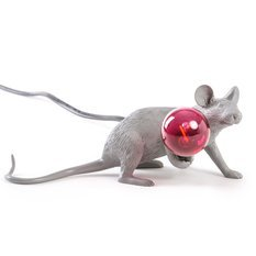 Seletti Mouse Lop Lie Down Grey Lamp