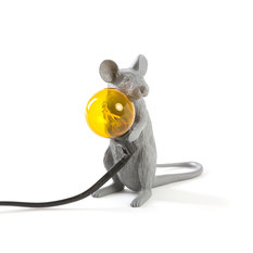 Seletti Mouse Mac Sitting Grey Lamp