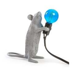 Seletti Mouse Step Standing Grey Lamp