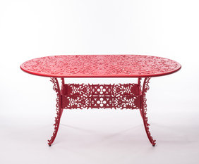 Seletti Red Oval Table
