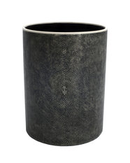 Simon Orrell Designs Circular Shagreen and Bone waste paper basket