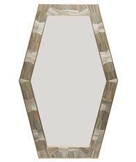 Simon Orrell Designs Hexagonal Straw Marquetry Mirror