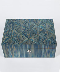 Simon Orrell Designs Straw marquetry Jewellery Box