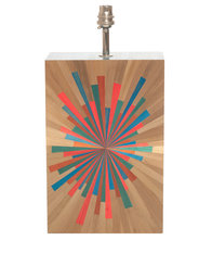 Simon Orrell Designs Straw marquetry Table Lamp