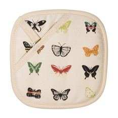 Space 1a Design Natural Butterfly Pot Holder