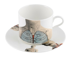 The New English Anatomica Latte Cup & Saucer