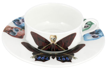 The New English Lepidoptera Profundus Mocha Cup & Saucer