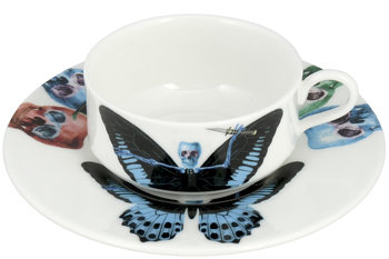 The New English Lepidoptera Putulanus Mocha Cup & Saucer