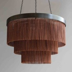 Tigermoth Copper Chain Shallow Chandelier