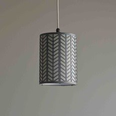Tigermoth Lattice Bronze with Birch Pendant Light