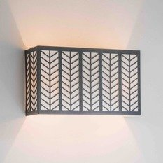 Tigermoth Lattice Bronze with Ivory Shade Wall Light