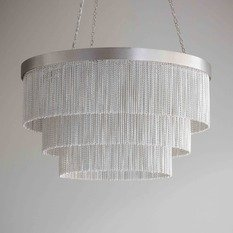 Tigermoth Silver Chain Shallow Chandelier
