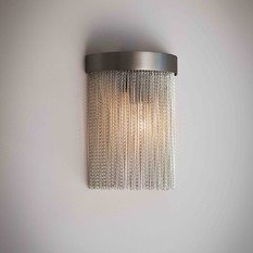 Tigermoth Silver Chain with Bronze Mini Crescent Wall Light