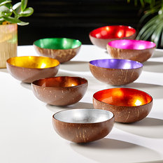 Tozai Foil Lacquered Coconut Bowl