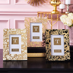 Twos Company Marbleised Gold Foil Print Photo Frame
