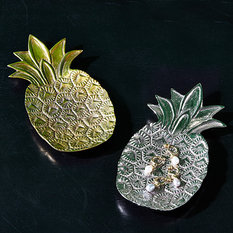 Twos Company Brass Pineapple Trinket Tray