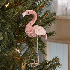 Twos Company Flamingo Bottle Brush Ornament