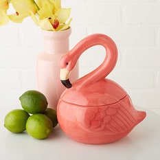 Twos Company Flamingo Covered Jar