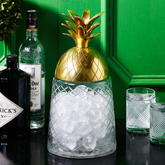 Two's Company Pineapple Covered Jar