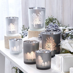 Twos Company Tree Silhouettes Tealight