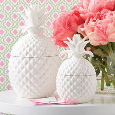 Twos Company White Pineapple Jar