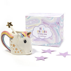 Twos Company Unicorn Mug with Stirrer