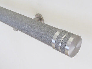 Walcot House 50mm Wrapped and Tracked Dusk Curtain Pole with Bobbin Finials