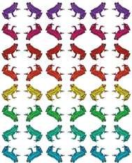 Wilful Ink Rainbow Frog Wallpaper