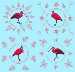 Wilful Ink Scarlet Ibis Fabric