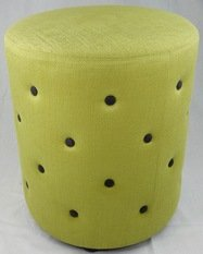 Wychwood Buttoned Lime Green Stool