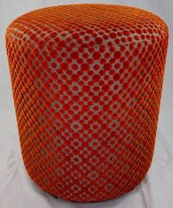 Wychwood Orange Polka Dot Stool