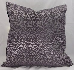 Mauve and Silver Satin Cushion