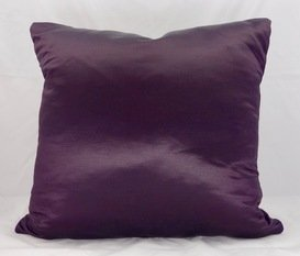 Satin Aubergine Cushion